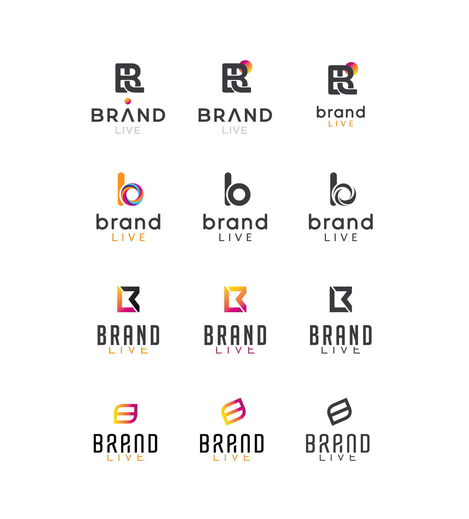 Brand Live - projekt logo
